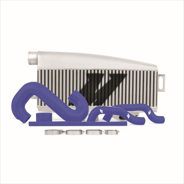 Mishimoto Top Mount Intercooler Silver w/Blue Hoses WRX / STI (2002-2007)