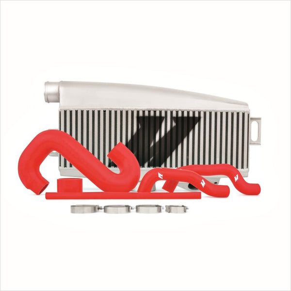 Mishimoto Top Mount Intercooler Silver w/Red Hoses WRX / STI (2002-2007)