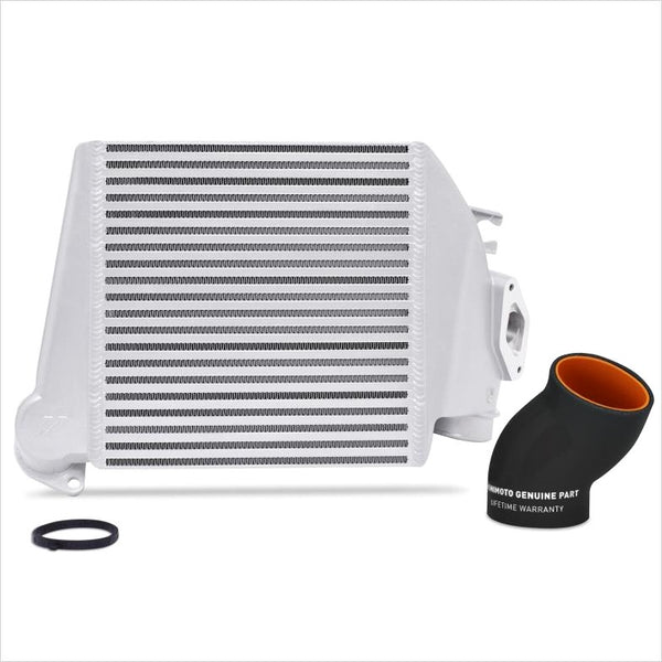 Mishimoto Top Mount Intercooler Silver w/Black Hose WRX (2008-2014)
