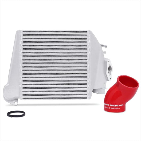 Mishimoto Top Mount Intercooler Silver w/Red Hose WRX (2008-2014)