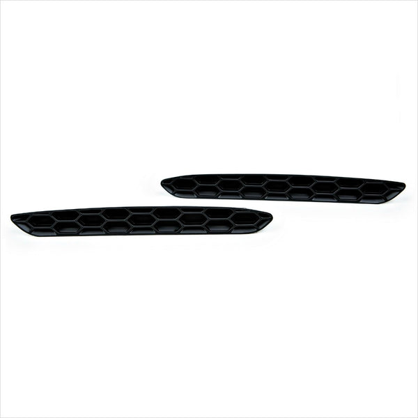 A set of matte black Acexxon Honeycomb Rear Reflector Inserts for the BMW F87 M2