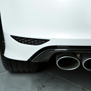 Close up of a of gloss black Acexxon Honeycomb Rear Reflector Inserts