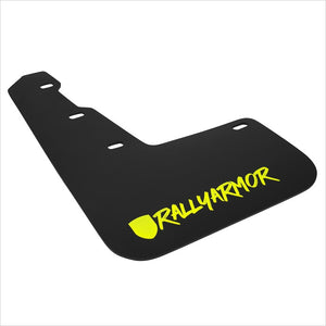 Rally Armor UR Mud Flaps Black with Caliper Green New Logo WRX / STI (2015-2020)