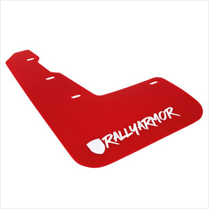 Rally Armor UR Mud Flaps Red with White New Logo WRX / STI (2015-2020)