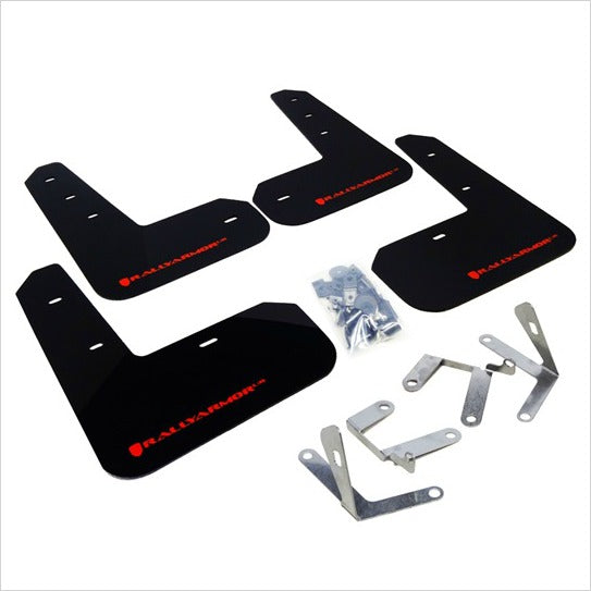 Rally Armor UR Mud Flaps Black with Red Logo BRZ FR-S T86
