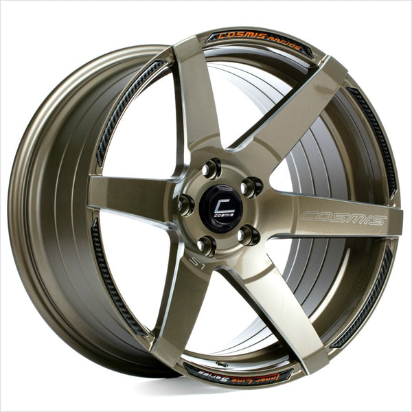 Cosmis S1 Bronze Milled Spoke Wheel 18x10.5 5x114.3 +5mm