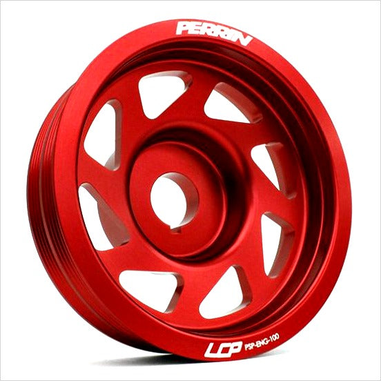 Perrin Lightweight Crank Pulley Red WRX (2002-2014) STI (2004-2018)