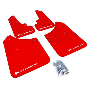 Rally Armor UR Mud Flaps Red with White Logo Forester (2004-2008)