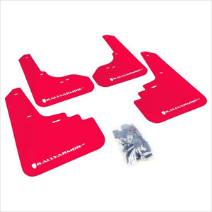 Rally Armor UR Mud Flaps Red with White Logo Legacy / Outback (2005-2009)