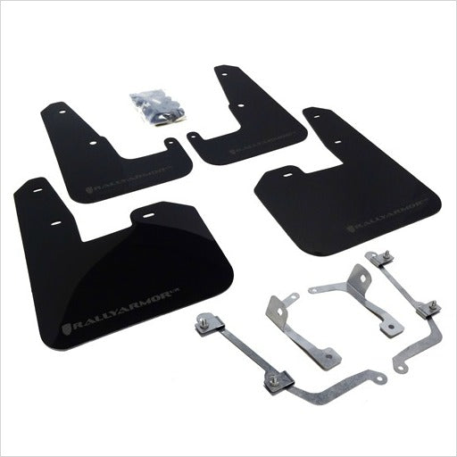 Rally Armor UR Mud Flaps Black with Grey Logo STI (2008-2014) WRX (2011-2014) Hatchback