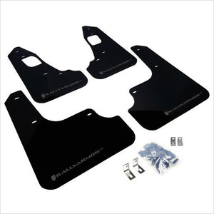 Rally Armor UR Mud Flaps Black with Grey Logo EVO X