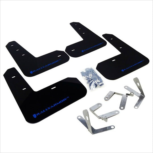 Rally Armor UR Mud Flaps Black with Blue Logo BRZ FR-S T86