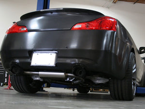 aFe Takeda 2-1/2 in 304 SS Cat-Back Exhaust System Infiniti G37 08-13/Q60 14-15 V6-3.7 w/ Black Tips