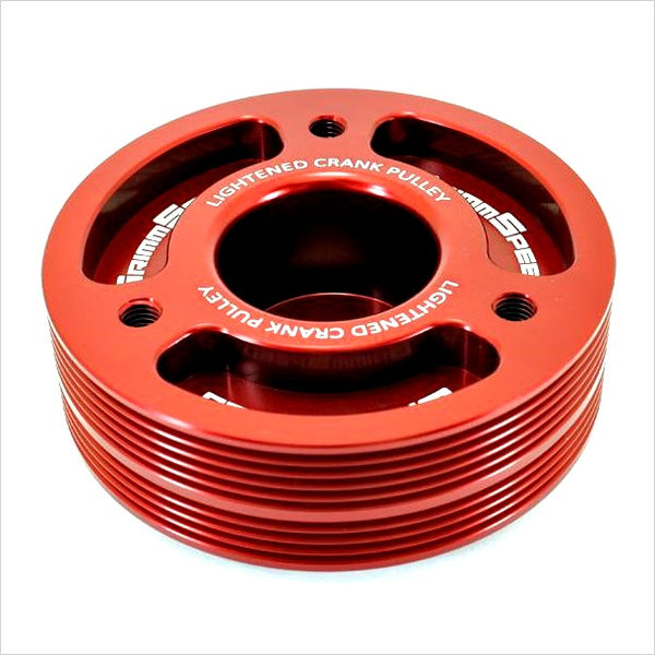 Grimmspeed Crank Pulley Red WRX (2002-2014) STI (2004-2019)