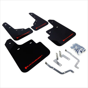 Rally Armor UR Mud Flaps Black with Red Logo Mazda3 (2014+)