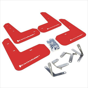 Rally Armor UR Mud Flaps Red with White Logo BRZ FR-S T86