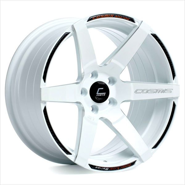 Cosmis S1 White Milled Spoke Wheel 18x9.5 5x114.3 +15mm