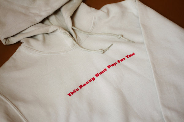 """POP FOR YOU"" HOODIE (SAND)"