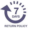 7 Days return policy