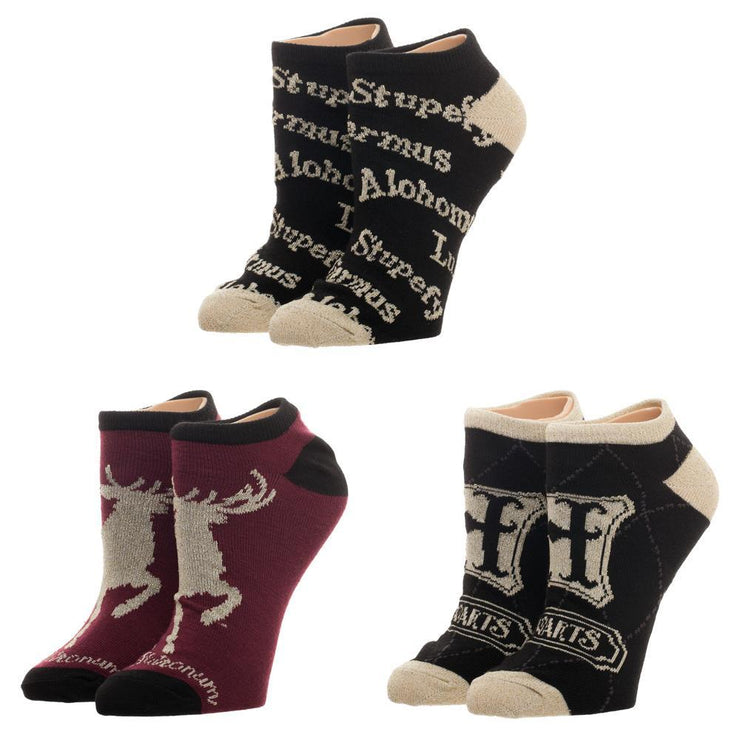 Harry Potter Ankle Socks 3 Pack Harry Potter Accessories Harry Potter Socks Harry Potter Fashion Harry Potter Gift