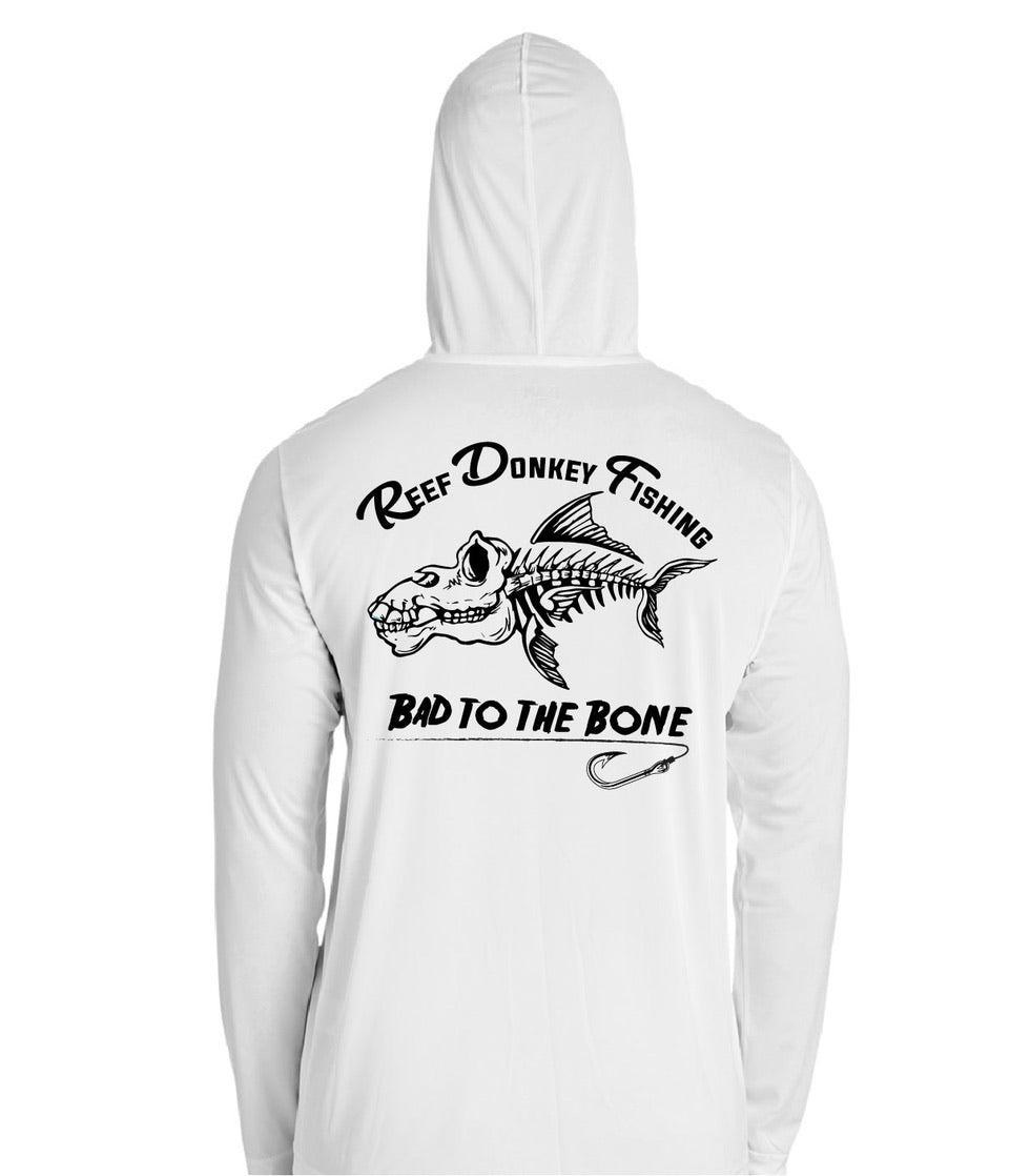 Bad To The Bone Performance Hoodie - White | Black
