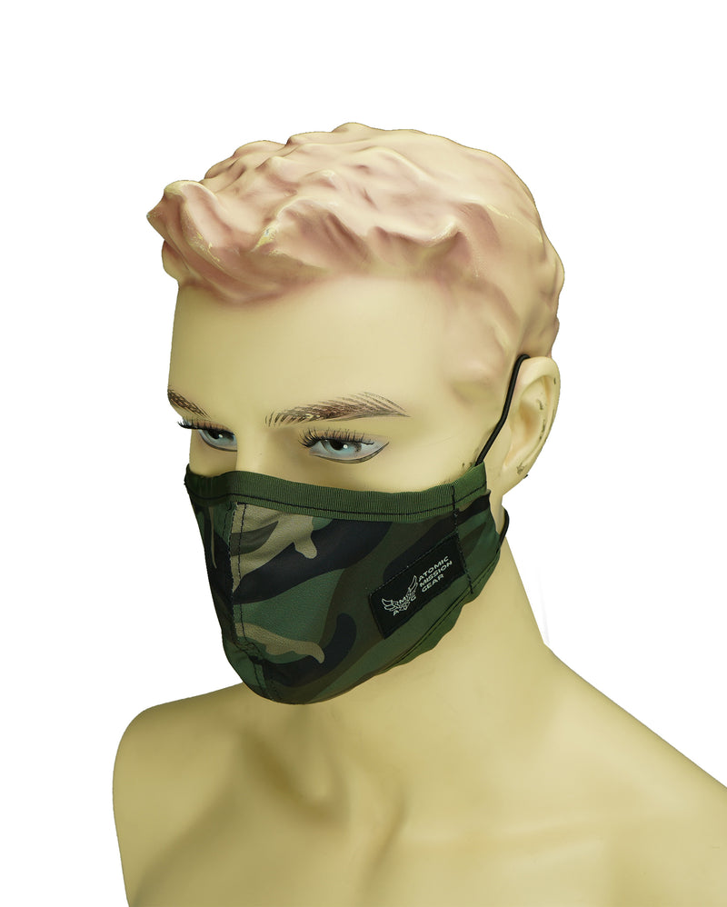 AMG travelo Tactical Style Breathable mask, face Cover for Sport (Made in USA) Green