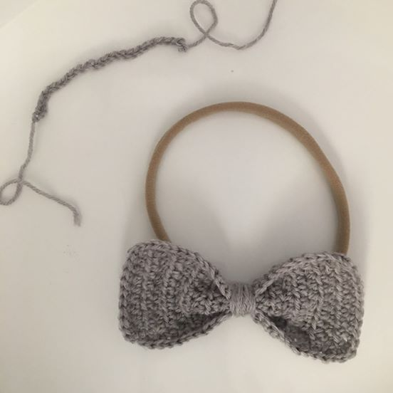 Crochet Bow Headband Lily Bee Nz