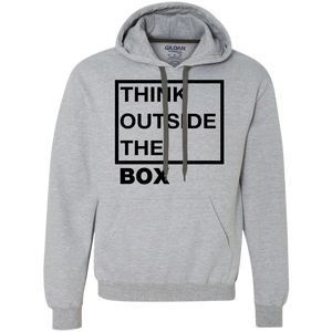 Think Outside The Box_Black Heavyweight Pullover Fleece Sweatshirt