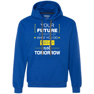 Your Future Today_White Heavyweight Pullover Fleece Sweatshirt