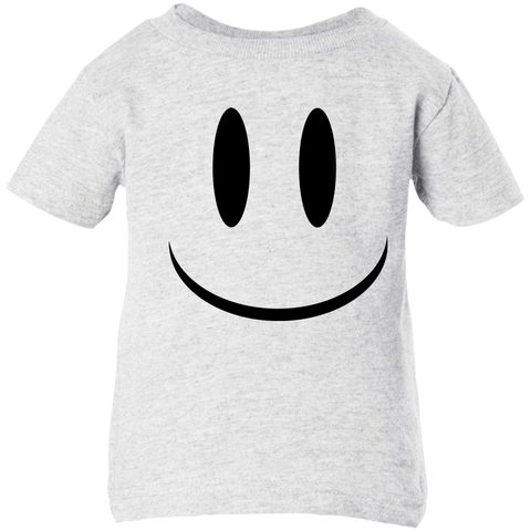 Smiley Face V1 Rabbit Skins Infant 5.5 oz Short Sleeve T-Shirt
