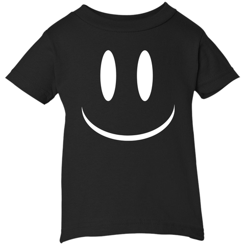 Smiley Face V2 Rabbit Skins Infant 5.5 oz Short Sleeve T-Shirt