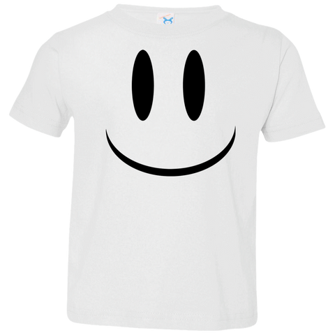 Smiley Face V1 Rabbit Skins Toddler Jersey T-Shirt