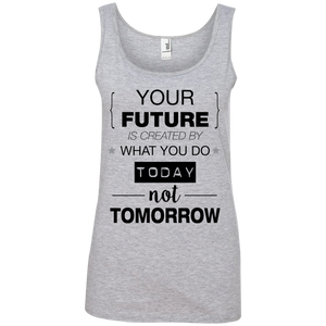 Your Future V2 Ladies' 100% Ringspun Cotton Tank Top