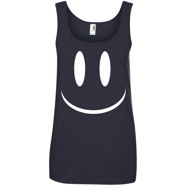 Smiley Face V2 Ladies' 100% Ringspun Cotton Tank Top