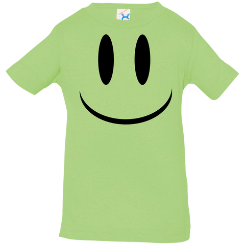 Smiley Face V1 Rabbit Skins Infant Jersey T-Shirt