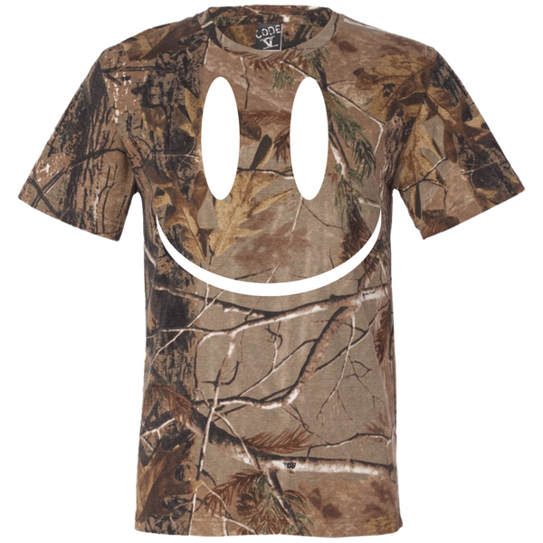Smiley Face V2 Short Sleeve Camouflage T-Shirt