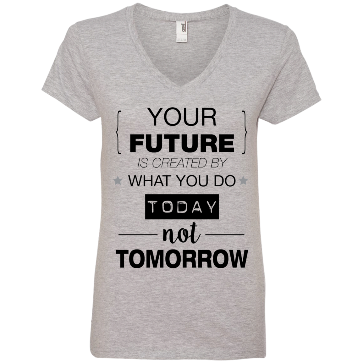 Your Future V2 Anvil Ladies' V-Neck T-Shirt