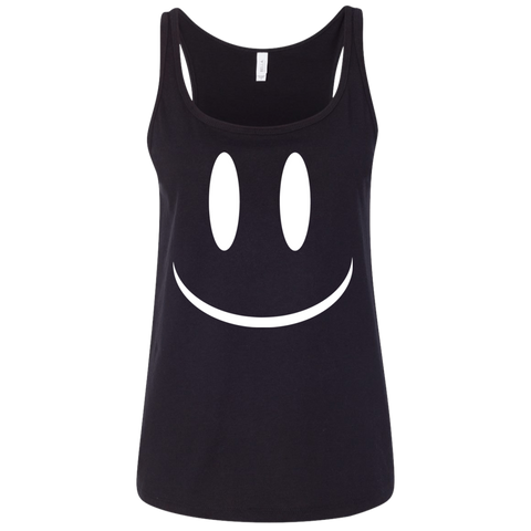 Smiley Face V2 Bella + Canvas Ladies' Relaxed Jersey Tank