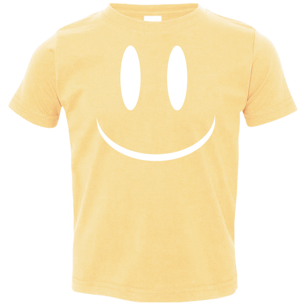 Smiley Face V2 Rabbit Skins Toddler Jersey T-Shirt