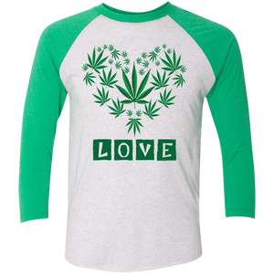 Plant Love Tri-Blend 3/4 Sleeve Baseball Raglan T-Shirt