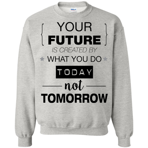 Your Future V2 Crewneck Pullover Sweatshirt  8 oz.