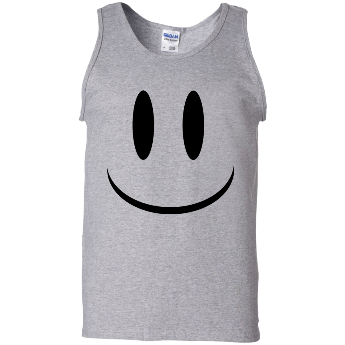 Smiley Face V1 100% Cotton Tank Top