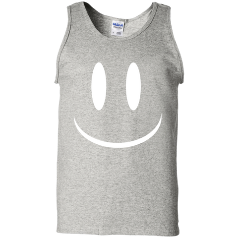 Smiley Face V2 100% Cotton Tank Top