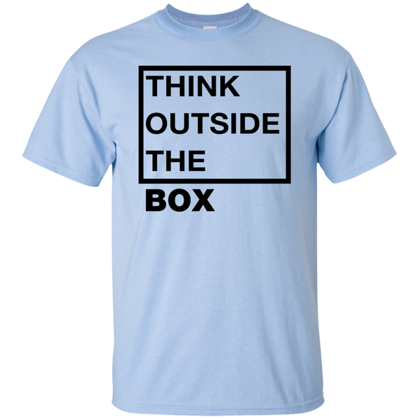 Think Outside The Box_Black Ultra Cotton T-Shirt