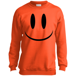 Smiley Face V1 Youth Crewneck Sweatshirt
