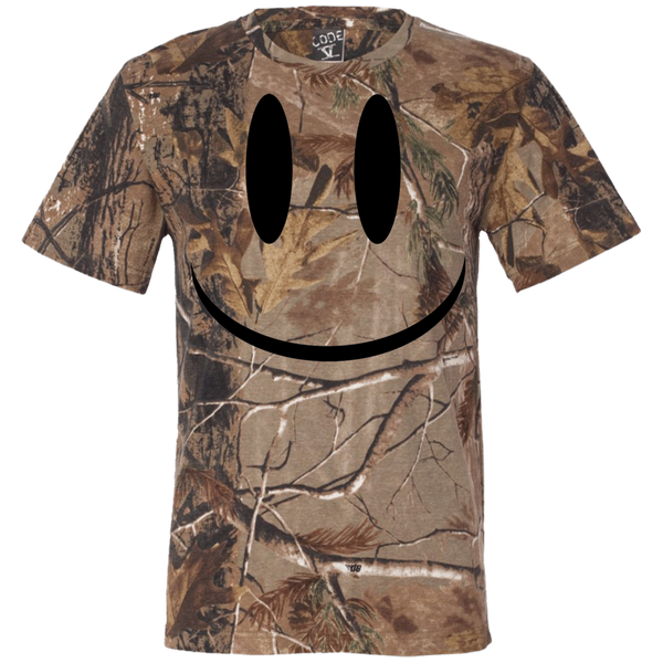 Smiley Face V1 Short Sleeve Camouflage T-Shirt