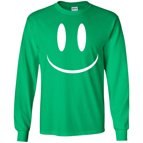 Smiley Face V2 Youth LS T-Shirt