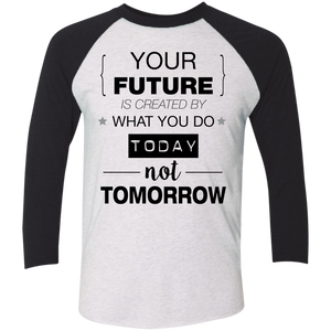 Your Future V2 Next Level Tri-Blend 3/4 Sleeve Baseball Raglan T-Shirt