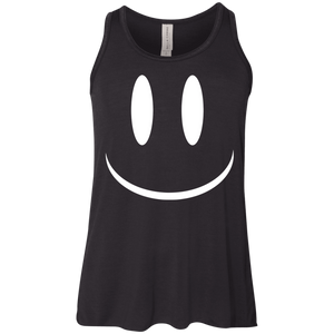 Smiley Face V2 Bella+Canvas Youth Flowy Racerback Tank