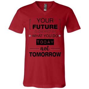 Your Future V2 Bella + Canvas Unisex Jersey SS V-Neck T-Shirt